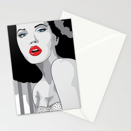 Woman hair Stationery Cards
