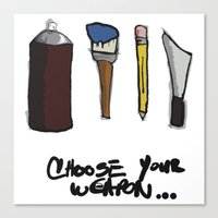 weapons of mass creation Canvas Prints featuring weapons of mass creation  by Mike E. Shorts