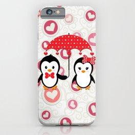 Penguins under the umbrella iPhone Case