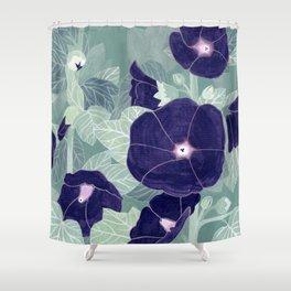 Dark florals Shower Curtain