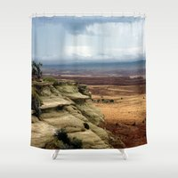 utah Shower Curtains featuring Somewhere in Utah by Lon Casler Bixby - Neoichi