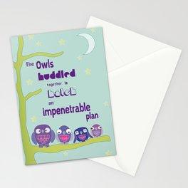 Owls Huddle Stationery Cards