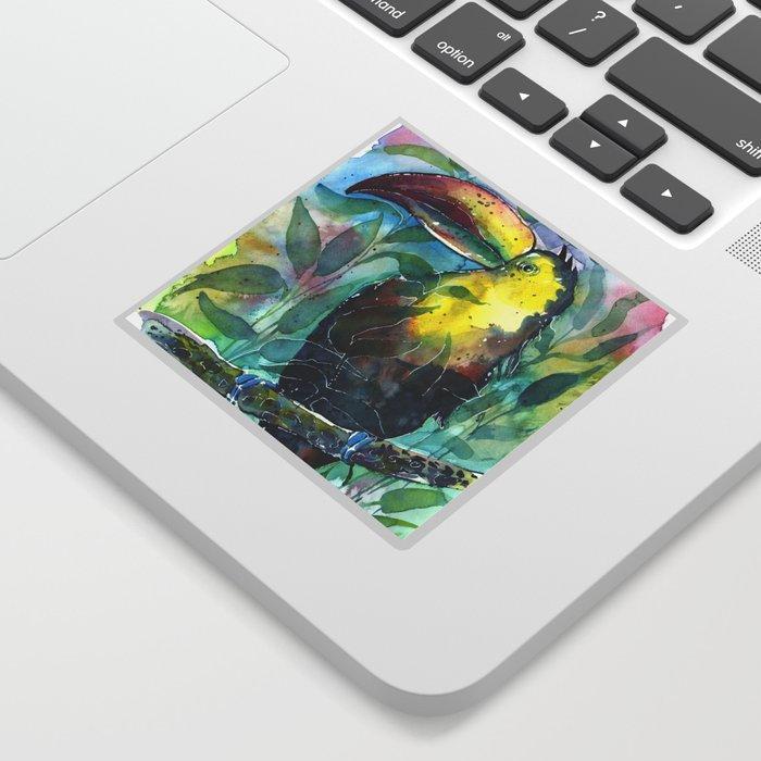 TOUCAN, watercolor illustration (nature) Sticker