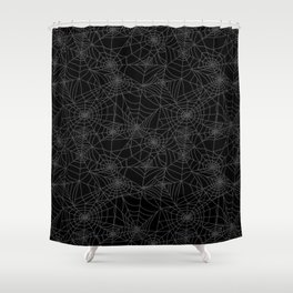 Dead of Night Cobwebs Shower Curtain