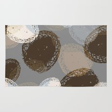 Seed Pods Neutral Color Graphic Pattern Rug