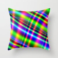 bands Throw Pillows featuring Bands of Beauty by Sartoris ART