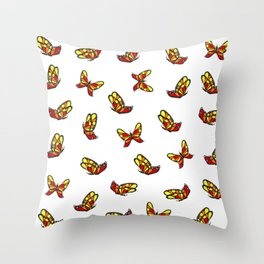 Multicolored butterflys Throw Pillow