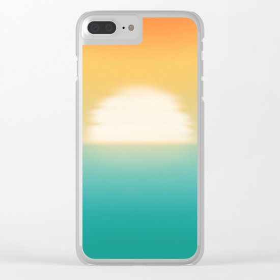 Into the horizon Clear iPhone Case