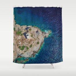 Ios, Greece Shower Curtain