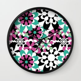 Tutti Fiori (pink) Wall Clock