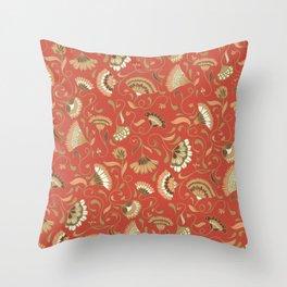 Jardín rojo Throw Pillow