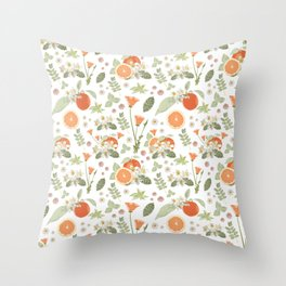 Clementine Matcha Throw Pillow