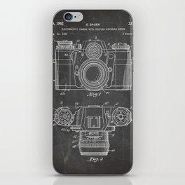 Camera Patent - Photography Art - Black Chalkboard iPhone Skin