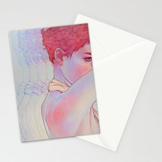 Untitled psychedelic girl drawing Stationery Cards