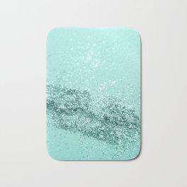 Summer Vibes Glitter #7 #mint #shiny #decor #art #society6 Bath Mat