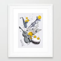 jazz Framed Art Prints featuring Jazz Jazz Jazz by Philipp Zurmöhle