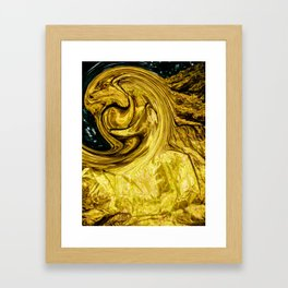 figure on a pure deep Framed Art Print