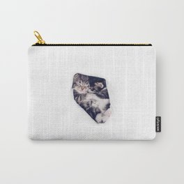 Two kitten brothers hugging Carry-All Pouch