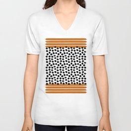 Stripes and Dots Unisex V-Neck