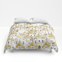 golden Russian cathedral church pattern Comforters