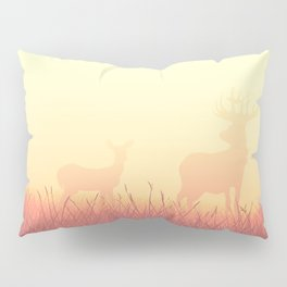 sunset in the meadow Pillow Sham