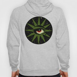 Red and Green All Seeing Cosmic Eye Hoody