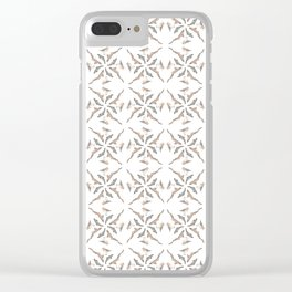 Seashore kaleidoscope Clear iPhone Case