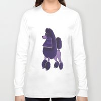 poodle Long Sleeve T-shirts featuring Poodle Doodle by Jill Pace