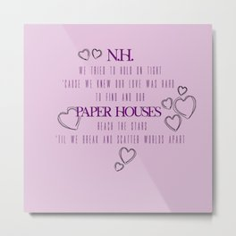 paper houses niall horan Metal Print