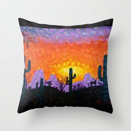 Sonoran Desert Sunset Throw Pillow