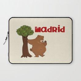 MADRID: Bear and Madrono (v.2) Laptop Sleeve