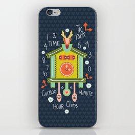 Tic Tock Cuckoo Clock iPhone Skin