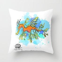 Leafy Sea Dragon Throw Pillow