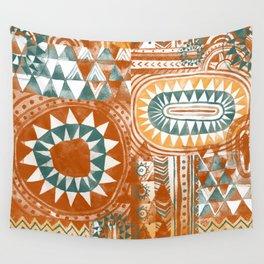 Tribal Bohemian Mosaic Wall Tapestry