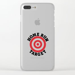 Home Run Target Clear iPhone Case