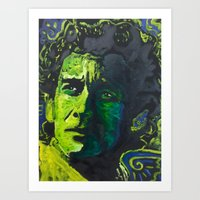 senna Art Prints featuring Senna by Matt Pecson