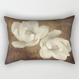 Vintage Flowers Digital Collage 11 Rectangular Pillow