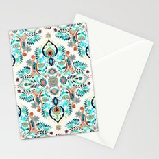 Modern Folk in Jewel Colors Stationery Cards