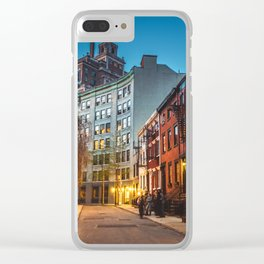 Twilight Hour - West Village, New York City Clear iPhone Case