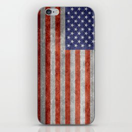 Flag of the United States of America in Retro Grunge iPhone Skin