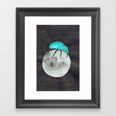 Moon Beetle Framed Art Print