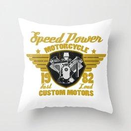 Vintage Motorcycle Engine Motorcycle Racing Biker Gift  Throw Pillow