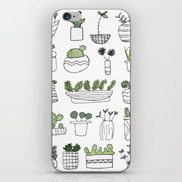 Spiky Succulents iPhone Skin