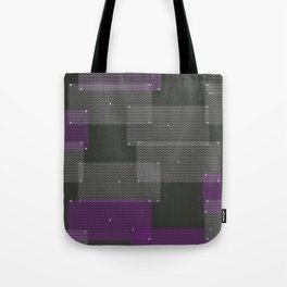 White and purple circular grates Tote Bag