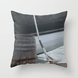 Barrel Ship and Cleat Throw Pillow