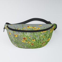 yellow flowes by the river Fanny Pack
