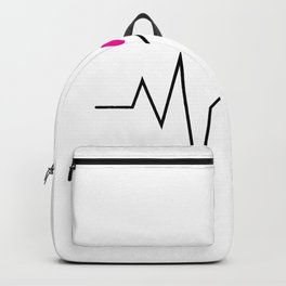 Heartbeat Pulse Funny Running Runner Gifts Backpack