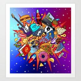 teenage explosion 2 Art Print