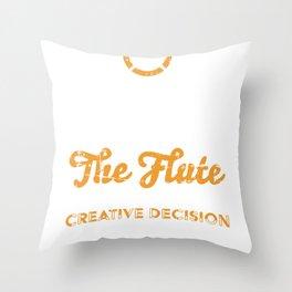 Flutist Flute Musician Music Instrument Throw Pillow