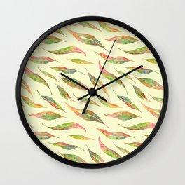 Colorful Eucalyptus Leaves Wall Clock